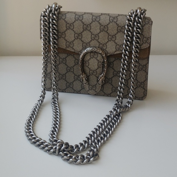 f409f92b315 Gucci Bags | Dionysus Gg Supreme Mini Bag In Taupe | Poshmark